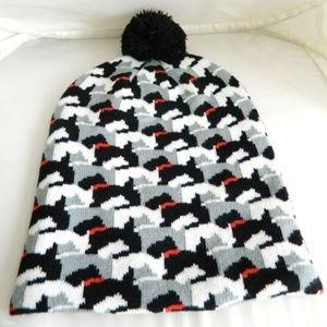 VERA BRADLEY Scottie Dogs Pom Beanie Hat